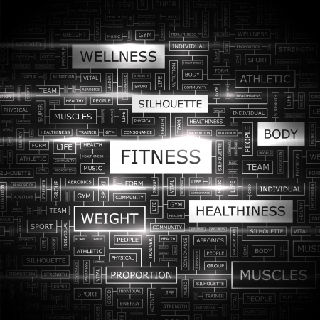 FITNESS  Word cloud concept illustration