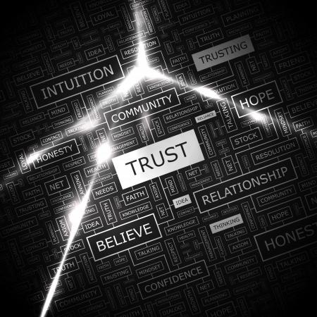 TRUST  Word cloud concept illustration