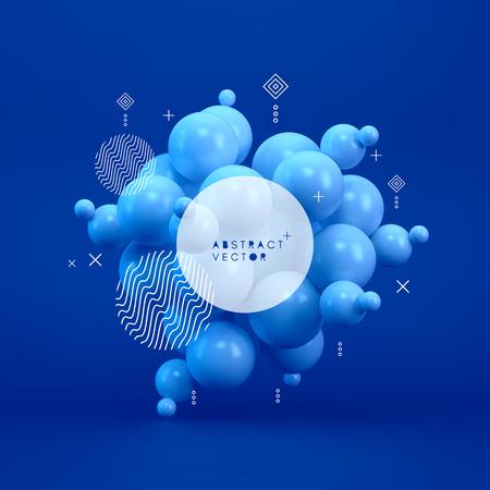 Illustrazione per Molecule. 3D concept illustration. Vector template. - Immagini Royalty Free
