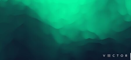 Illustration pour Green misty background. Vector Illustration for advertising, marketing, presentation. Mobile screen. - image libre de droit