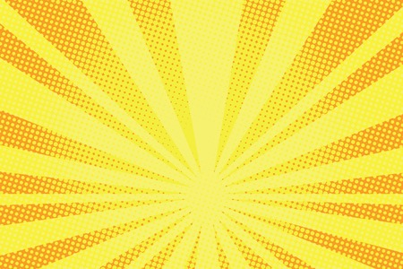 Ilustración de retro comic yellow background raster gradient halftone pop art retro style - Imagen libre de derechos