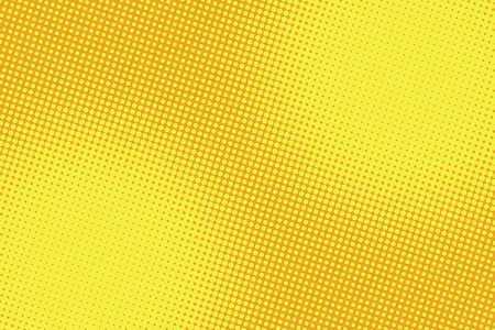 Illustration pour retro comic yellow background raster gradient halftone pop art retro style - image libre de droit