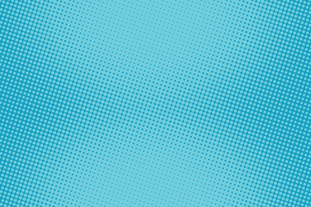 Illustration pour retro comic blue background raster gradient halftone pop art retro style - image libre de droit