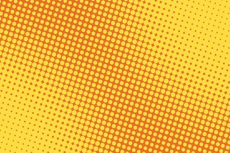 Ilustración de retro comic yellow background raster gradient halftone pop art retro style - Imagen libre de derechos