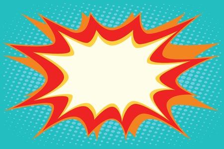 Illustration pour Comic book explosion bubble dynamic pop art retro vector - image libre de droit