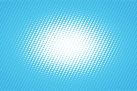 Blue pop art retro background with halftone effect vector illustration.