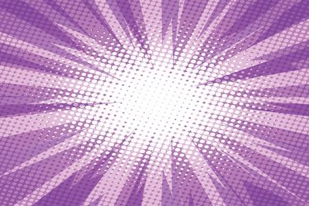 Illustration pour Purple pop art retro burst background vector illustration. - image libre de droit