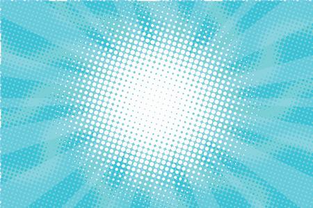 Blue Sunny haze pop art retro vector background illustration