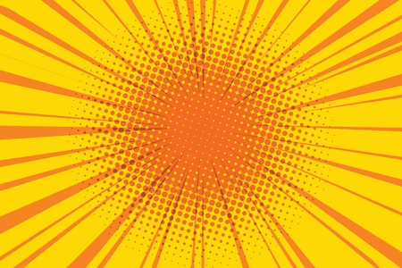 The sun comic book retro background pop art retro vector illustration