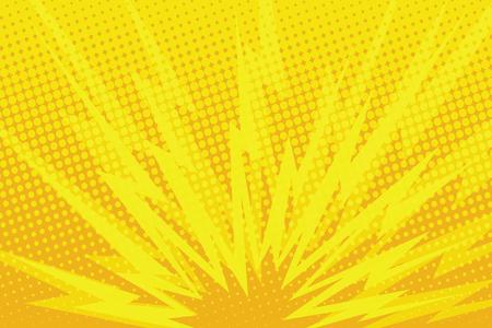 Ilustración de Yellow cartoon blast background pop art retro comic book illustration - Imagen libre de derechos
