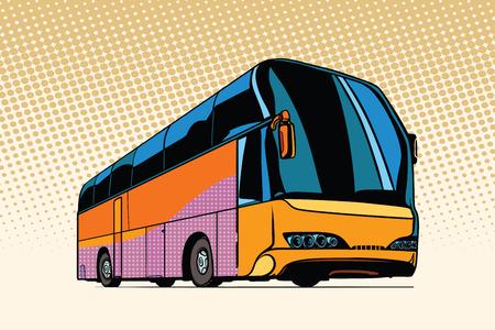 Ilustración de tourist bus, public transport - Imagen libre de derechos