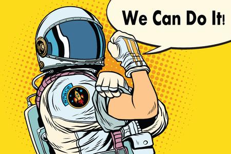 Illustration pour we can do it astronaut - image libre de droit