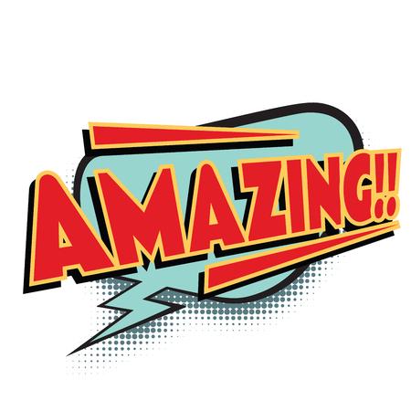 Illustration for amazing comic word. Pop art retro vector illustration - Royalty Free Image