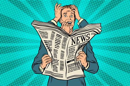 Illustration pour Businessman shocked by bad news, many hands - image libre de droit