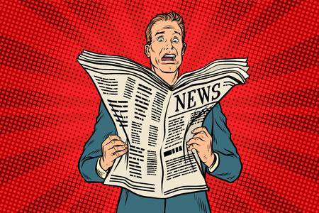 Illustration pour bad news in the newspaper - image libre de droit