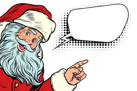 Illustration pour Santa Claus and word cloud - image libre de droit