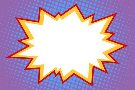 Illustration pour A comic white explosion. Pop art retro vector Illustrator - image libre de droit