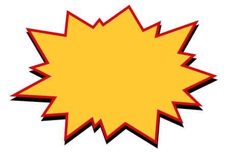 Comic yellow burst