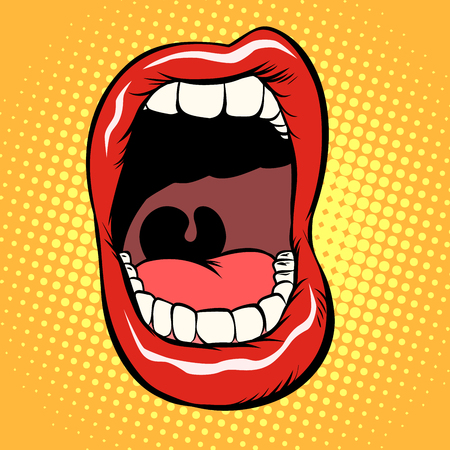 Illustration pour open mouth with teeth isolate on white background - image libre de droit