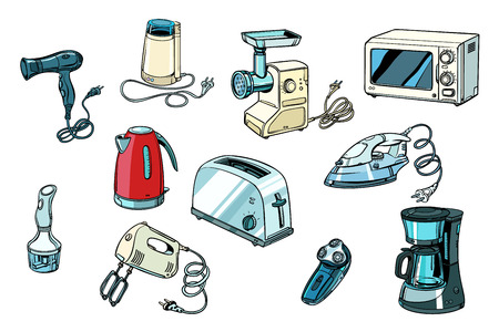 power tools for kitchen and home. Pop art retro vector illustration vintage kitsch