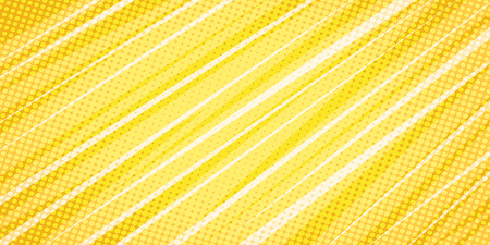Illustration for yellow linear abstract background. Pop art retro vector illustration vintage kitsch - Royalty Free Image