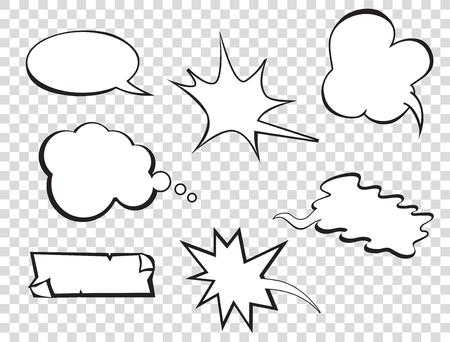 Illustration pour Set of pop art comic speeches vector bubble. Pop-art bubble bundle. - image libre de droit