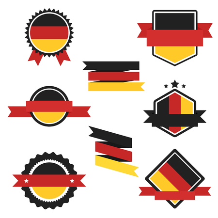 World Flags Series  Germany Flag on Tags, Web Stickers