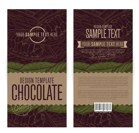 Illustration pour Chocolate packaging design template vector illustration. - image libre de droit