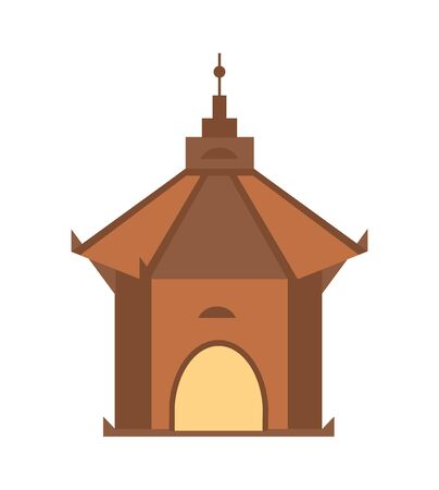 Antique architecture isolated vector icon.