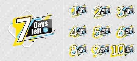 Photo pour countdown label set with limited time badge - image libre de droit