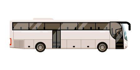 Illustration for City bus for transportation on white background - Royalty Free Image