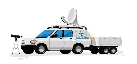 Illustration for Broadcast technology. Isolated media broadcasting - Royalty Free Image