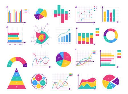 Illustration pour Presentation business infographic isolated set - image libre de droit