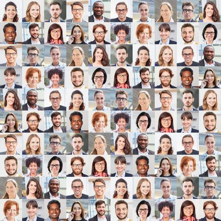 Photo pour Portrait collage with business people as business and teamwork concept - image libre de droit