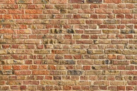 Photo pour Old wall or brick wall from many red bricks as a background texture - image libre de droit