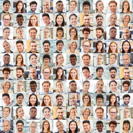 Photo pour Portrait collage of business people as a team and work colleagues - image libre de droit