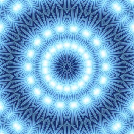 Blue white Mandala for enlightenment