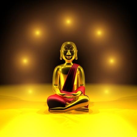 Seven lights of the Golden Buddha