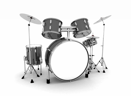 Black and silver drums