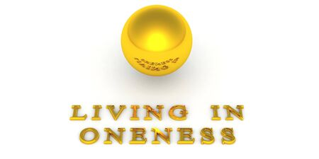 Golden Ball Oneness with 3D Text 03