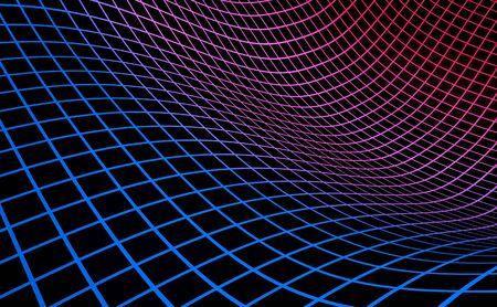 Photo pour Grid background blue red on black  - image libre de droit