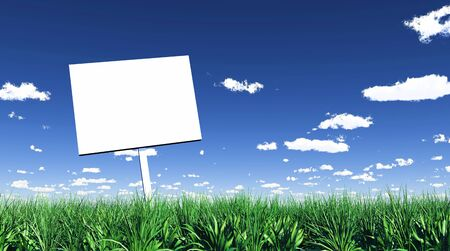 Blank sign in the grass 01