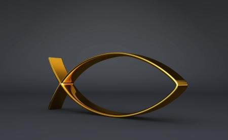 3D ICHTHYS gold on Black 03