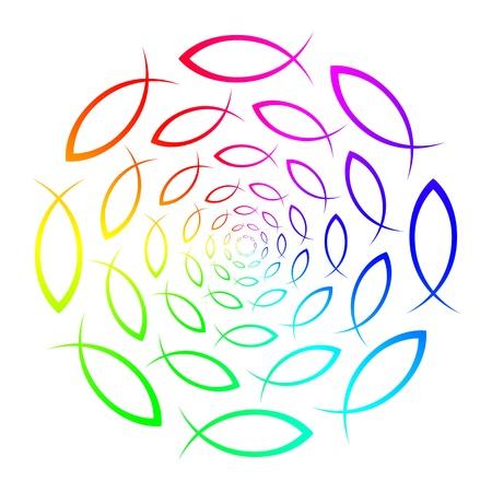 Rainbow - ICHTHYS - fish symbol