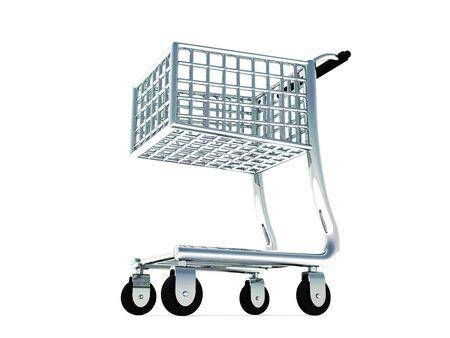 3D Cart - Shopping Cart - classic silver