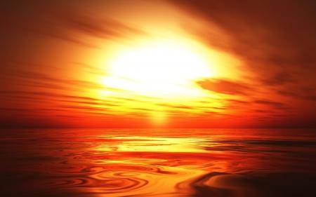 Hot Sunset background 06
