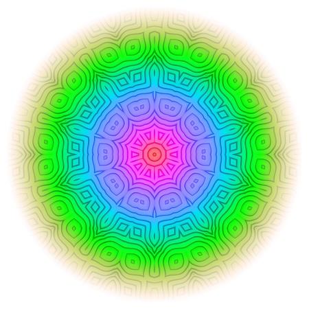 Rainbow Mandala 09