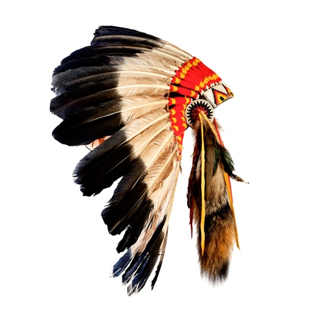 Photo for native american indian chief headdress (indian chief mascot, indian tribal headdress, indian headdress) - Royalty Free Image