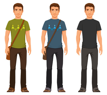 Illustration pour young friendly guy in casual outfit - image libre de droit