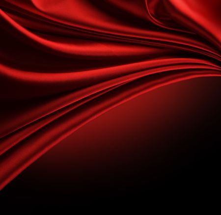 Abstract Red Silk Border isolated on black
